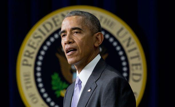 Obama puhui tiistaina Washingtonissa.
