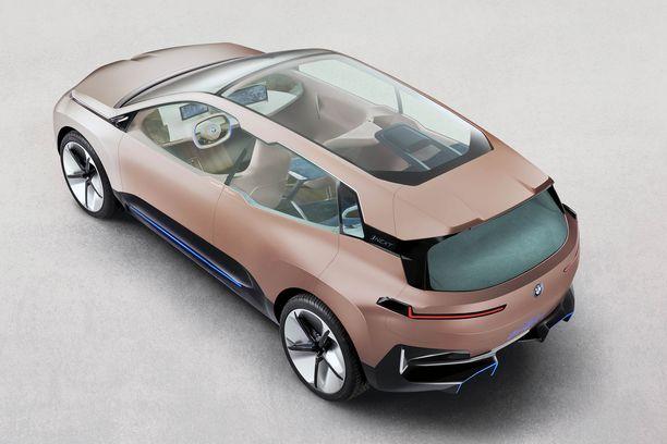 BMW Vision iNEXTIN konseptimallissa on jo tuotantomallin mitat ja ulkoiset piirteet.