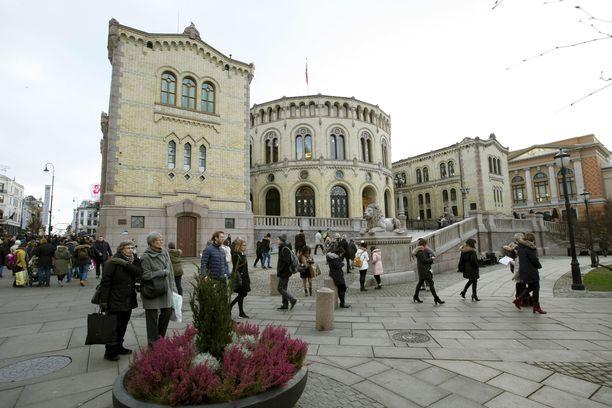 Venäläismies käyttäytyi epäilyttävästi seminaarissa, joka järjestettiin Norjan parlamentissa. Arkistokuva.