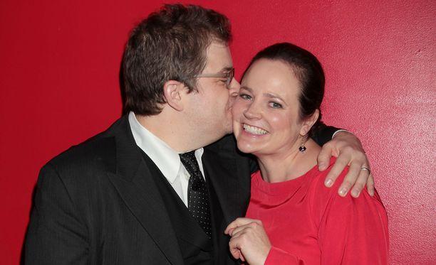 Patton Oswalt ja Michelle McNamara Oswaltin elokuvan ensi-illassa vuonna 2011.