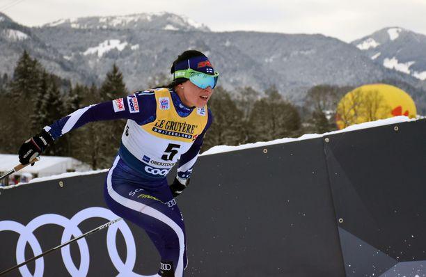 Krista Pärmäkoski on tämän kauden kahdeksassa maailmancupin normaalimatkan kilpailussa ollut sijoilla 3–6.