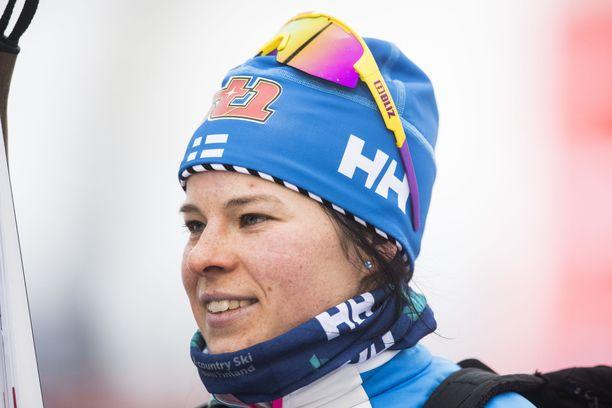 Krista Pärmäkoski oli viime vuonna Rukalla 10 kilometrin kilpailussa toinen.