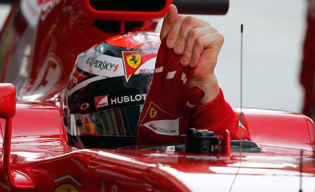 Kimi Räikkönen oli aika-ajojen ensimmäisessä osiossa seitsemänneksi nopein.