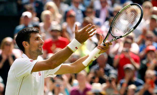 Novak Djokovic juhli voittoa James Wardista.