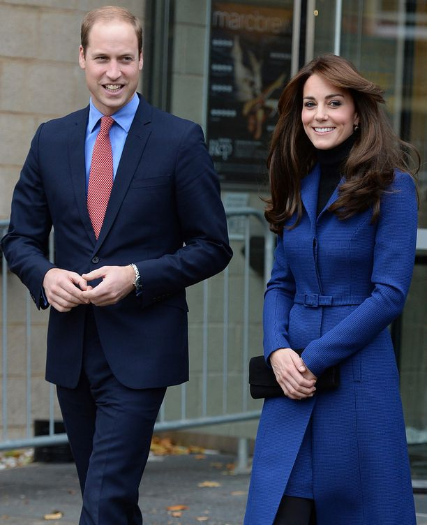 Cambridgen herttua ja herttuatar olivat teatterin järjestämässä perhetapahtumassa Dundeen kaupungissa Skotlannissa.