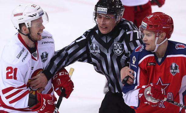 KHL:n pudotuspelien ZSKA-Jokerit-sarja on nyt 2-0.