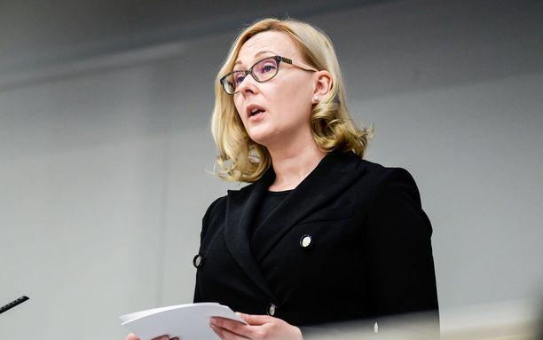 Eduskunnan puhemies Maria Lohela.