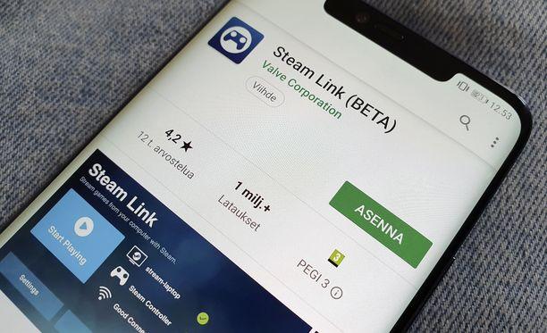 Steam Linkin voi ladata Google Play -kaupasta.
