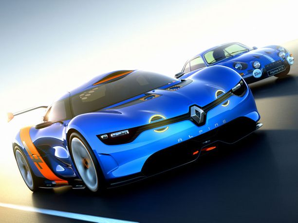 Renaultin keväällä esittelemä Alpinen konseptiversio oli tehty taustalla näkyvän Alpine Berlinettan kunniaksi.