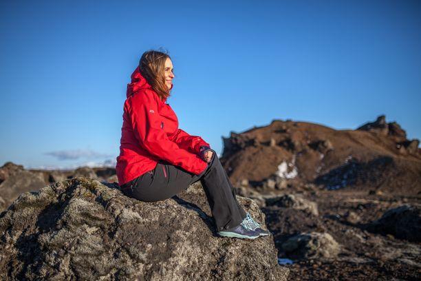 Satu Rämö rakastaa Islannin luontoa.