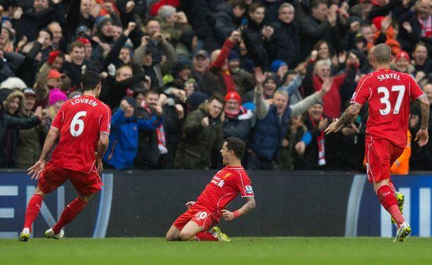 Philippe Coutinhon (keskellä) unelmakuti oli liikaa Citylle.