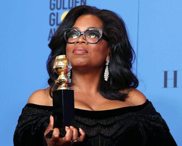 Oprah Winfreyn sunnuntainen puhe otettiin vastaan niin innostuneesti, että hänestä alettiin toivoa jo presidenttiehdokasta.