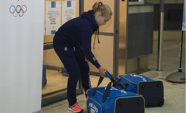 Petra Olli lähti kohti Rioa varhain tiistaiaamuna.