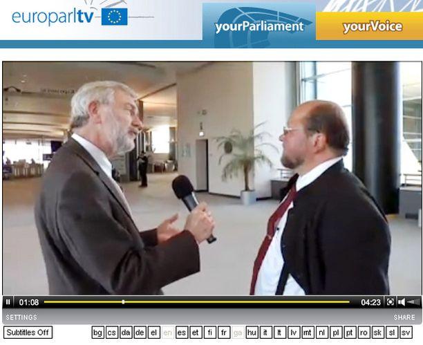 Isä Mitron haastattelun teki Euroopan parlamentin oma EuroparlTV.