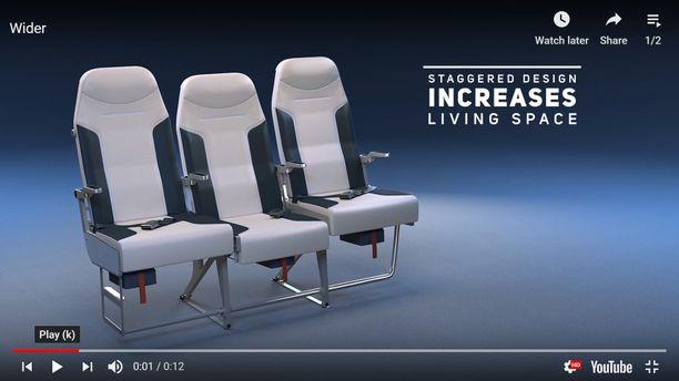 S1-penkkimallissa keskimmäinen istuin on vedetty muita taemmas, ja se on matalampi sekä muita leveämpi. Näin saadaan lisää tilaa keskellä istuvalle.