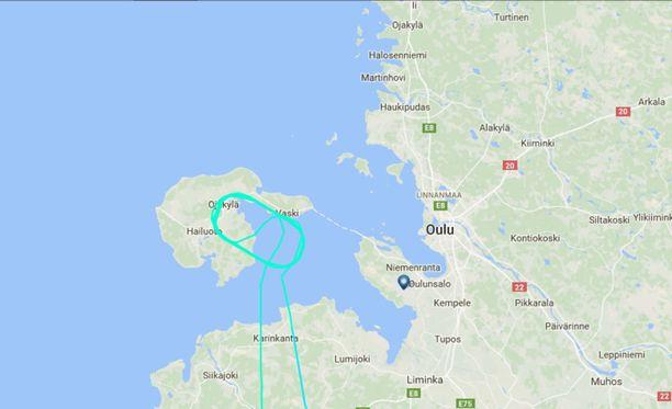Norwegianin lentokone piipahti Hailuodon päällä, mutta kääntyi takaisin Helsinkiin.