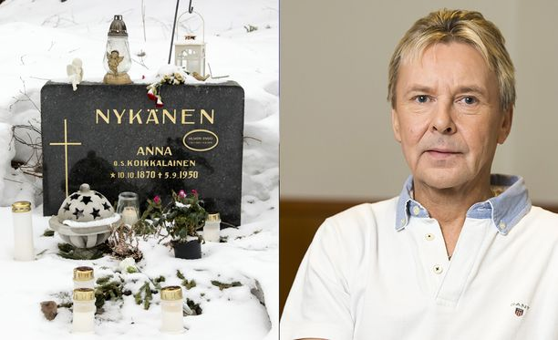 Matti Nykäsen haudalla paloivat kynttilät ja enkelipatsaat valvoivat.