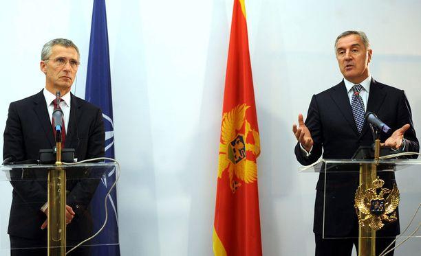 Naton pääsihteeri Jens Stoltenberg ja Montenegron pääministeri Milo Djukanovic keskustelivat Montengeron mahdollisesta Nato-jäsenyydestä tällä viikolla.