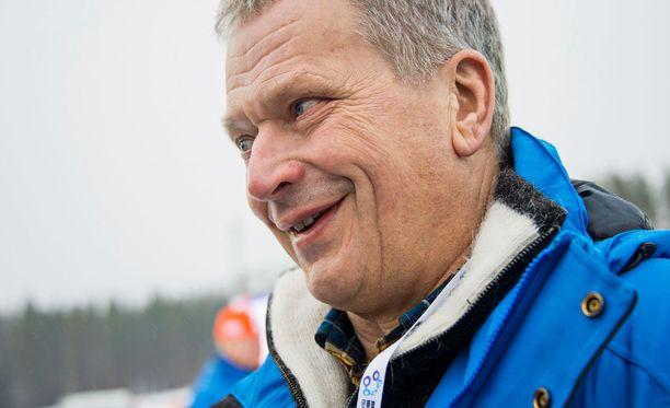 Presidentti Sauli Niinistö on urheilumiehiä.