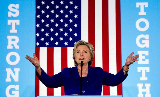 Clinton puhui keskiviikkona Nevadassa, joka on yksi Yhdysvaltain vaalien vaa'ankieliosavaltioista.