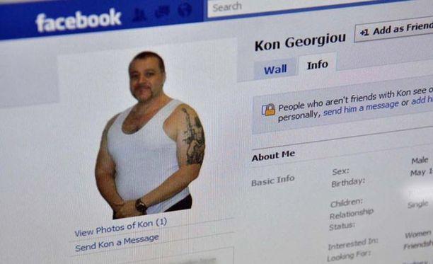 Kon Georgiou on aktiivinen Facebookissa, vaikka istuu Australian turvallisimmassa vankilassa.