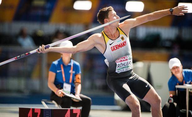 Thomas Röhler harmitteli Berliinin olympiastadionin pehmeää heittopaikkaa.