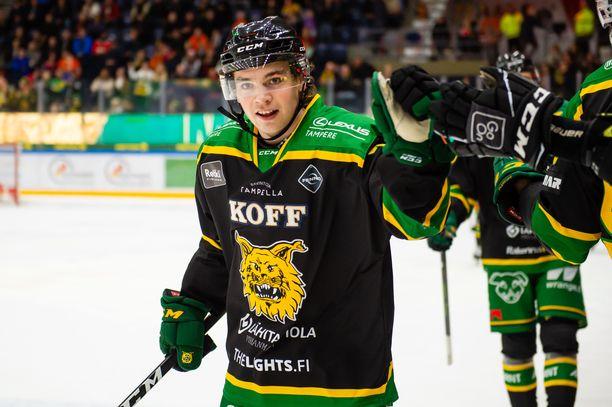 19-vuotias Matias Maccelli oli Suomen tehomies Saksan-kaadossa.