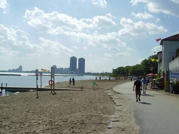 Toronton rannat ovat ensiluokkaisia.