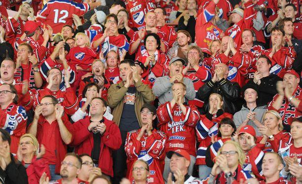 HIFK-fanit matkaavat tänään Tampereelle.