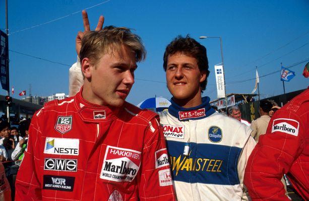 Aika velikultia. Häkkinen ja Schumacher mittelivät paremmuudestaan jo ennen F1-sarjaa.