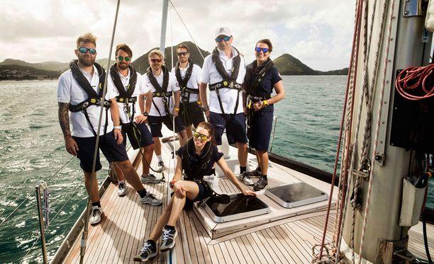 Seikkailijat purjehtivat ohjelmassa Atlantin valtameren yli.