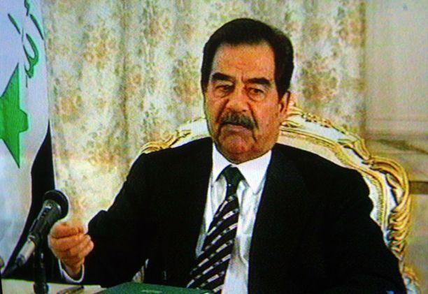 Saddam Hussein helmikuussa 2003.