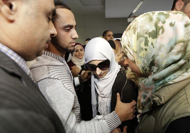 Shaima Swilehin otti San Franciscossa vastaan hänen aviomiehensä ja poikansa isä Ali Hassan.