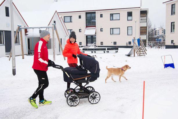 Nadia Ammouri viihtyy Kirkkonummella. Pohjoisen tyttö ei voisi kuvitella asuvansa Helsingin keskustassa.