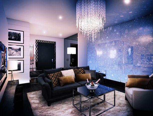 Huoneissa on erilliset makuu - ja olohuonetilat.