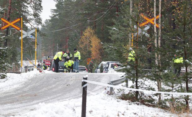 Raaseporin onnettomuus tapahtui Skogbyn tasoristeyksessä.
