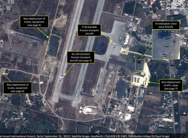 Tämä on yksi kuvista joka todistaa Venäjän lisänneen sotilaskalustoaan Syyriassa.