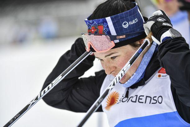 Krista Pärmäkoski yrittää rikkoa Norjan vallan hiihdossa.