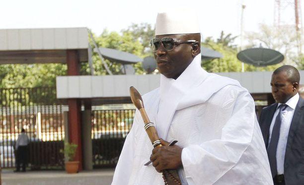 Gambian ex-presidentti Yahya Jammeh on lähtenyt maasta.
