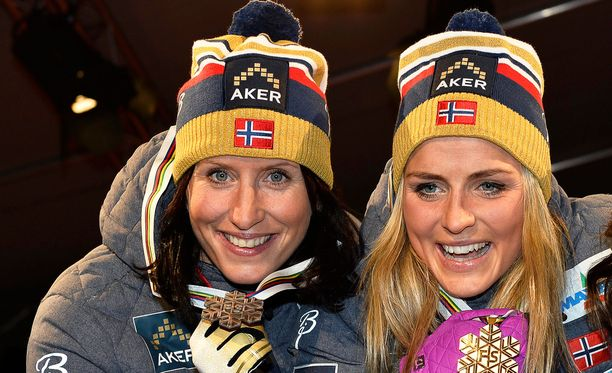Marit Björgen ja Therese Johaug ovat ystäviä myös kilpalatujen ulkopuolella.