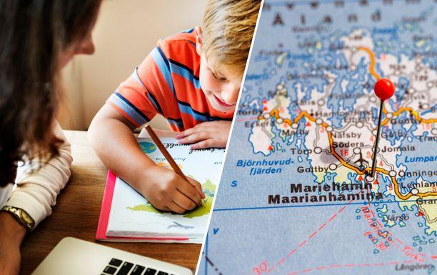 Ruotsalaislasten kotiopetus Ahvenanmaalla on yleistynyt. Kuvituskuva.