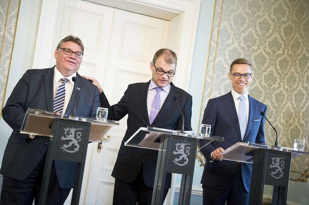 Alkuperäiset SSS-miehet eli Sipilä, Stubb ja Soini leikkasivat kehitysyhteistyöstä 200 miljoonaa euroa vuonna 2015.