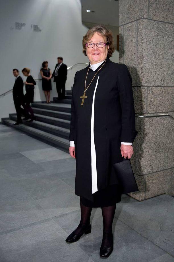 Helsingin piispa Irja Askola Helsingin kaupungin uudenvuoden juhlissa vuonna 2013.