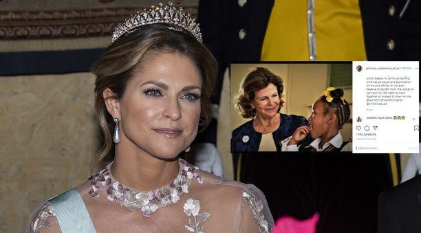 Prinsessa Madeleine hehkuttaa äitiään sosiaalisessa mediassa.