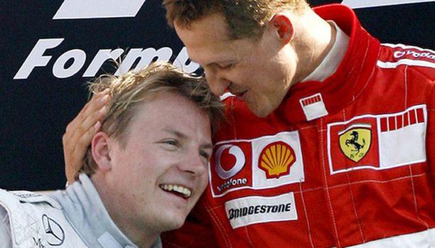 SUOSITUIMMAT. Kimi Räikkönen ja Michael Schumacher saivat yhteensä 45 prosenttia fanien äänistä.