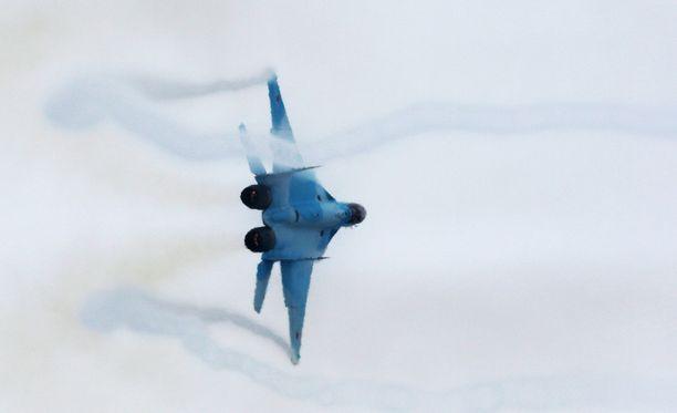 Mikoyan MIG-35 -hävittäjä esiteltiin Moskovassa tammikuussa.