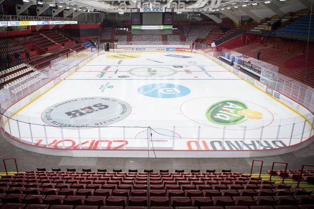 Juniorit pelasivat otteluitaan Porin jäähallissa.