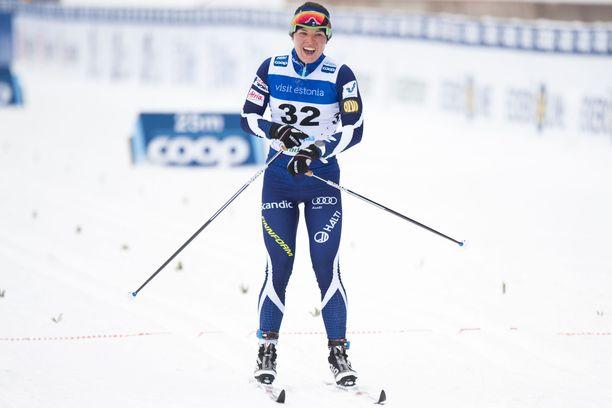 Krista Pärmäkoski teki viikonlopun toiseksi parhaan suomalaissuorituksen, kun hän oli neljäs naisten kympillä.