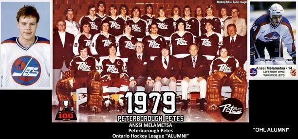 Anssi Melametsä Winnipeg Jetsin joukkuekuvassa kaudella 1985-86.