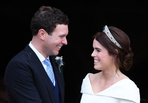 Prinsessa Eugenie ja Jack Brooksbank avioituivat vuonna 2018.